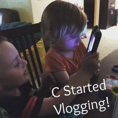 C started vlogging!
