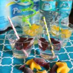 Fruit juice ice cubes and crazy straws encourage kids to drink more water!