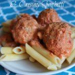 {Recipe} Italian Turkey Meatballs and Creamy Spaghetti