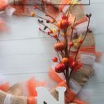 DIY Burlap and Tulle Fall Wreath