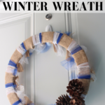 DIY Burlap and Tulle Winter Wreath