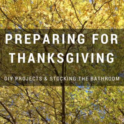 Preparing for Thanksgiving
