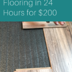 New Bedroom Flooring in 24 Hours for $200
