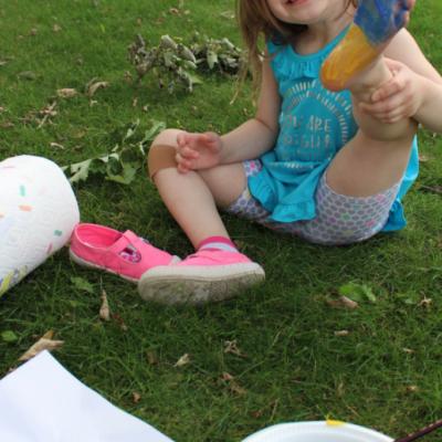 Minions Footprint Sensory Activity
