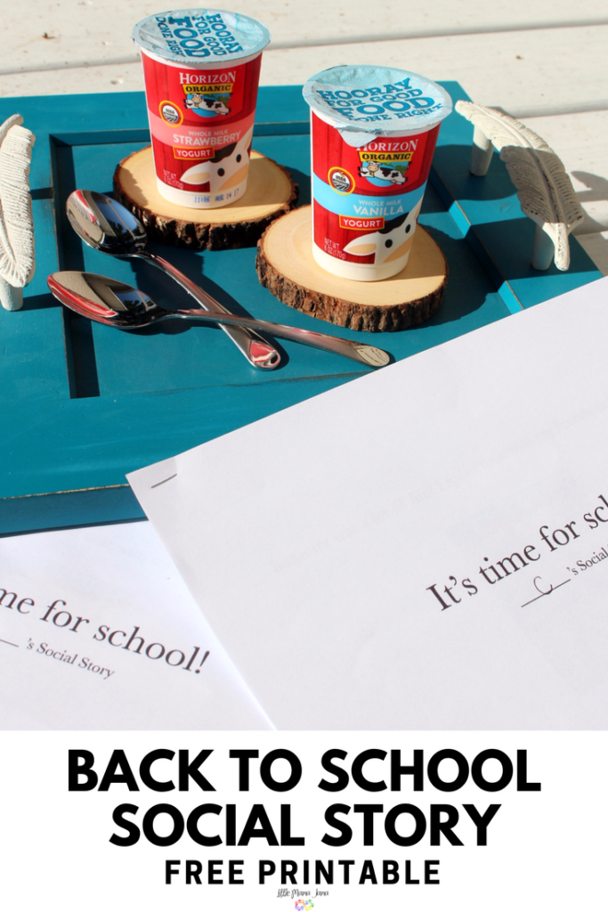 back to school social story printable to prepare your kids