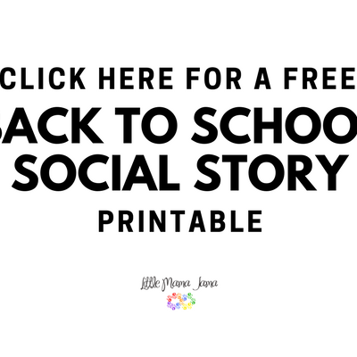 Back to School social story printable to prepare your kids for the school year!