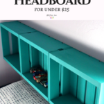 Make this Wood Half Crate DIY Headboard for Under $25
