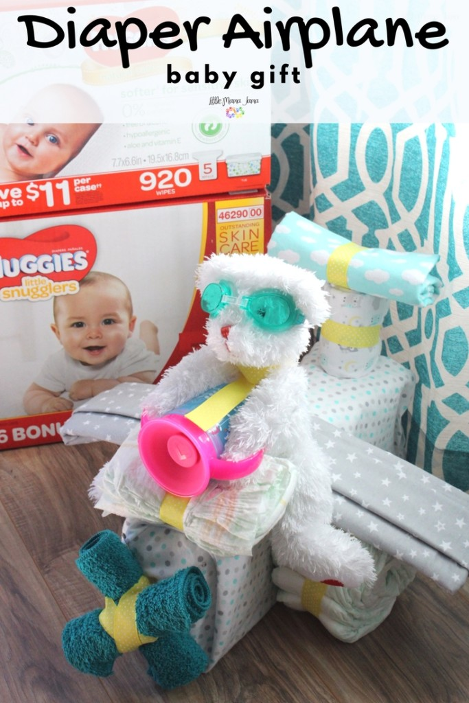 Diaper Airplane Baby Gift