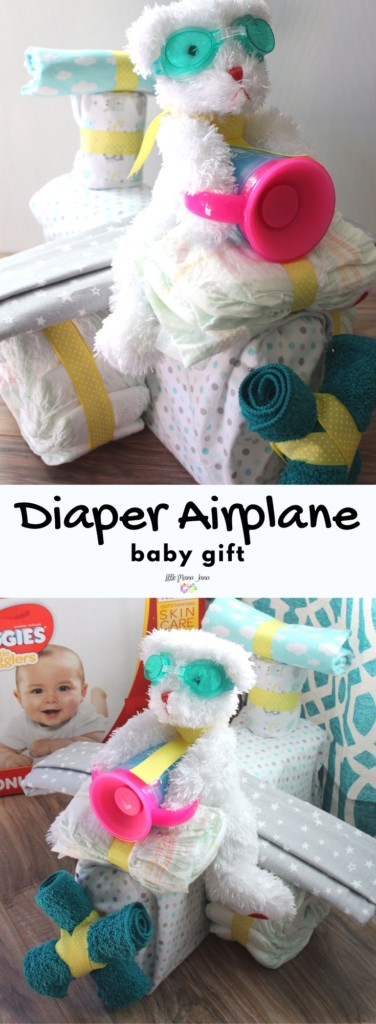 [ad] Create a diaper airplane baby gift for new parents or a baby shower! Practical gifts are always appreciated, and this bear pilot is cute and cuddly. #nothinglikeahug