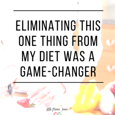 Eliminating this one thing from my diet was a game-changer.