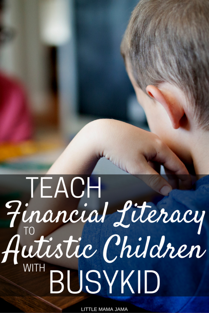 Teach Financial Literacy to Autistic Children with BusyKid, using a hands-on learning method to make money fun! Children with autism can learn about money, saving, spending, investing and budgeting, to prepare them for adulthood. AD