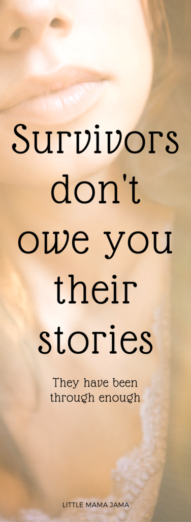 Survivors don't owe you their stories of domestic violence, sexual harassment or sexual assault. And the one book every person should read.