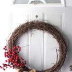 Rustic Burlap & Cranberry Wreath