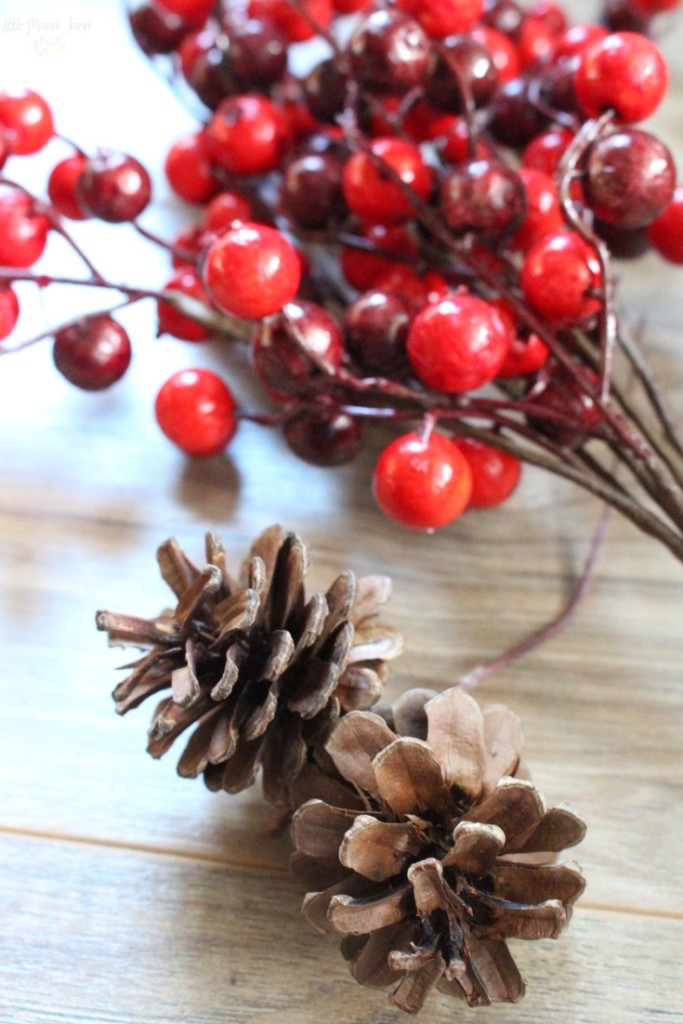 Put your touch on your rustic holiday home decor with this DIY Burlap and Cranberry Wreath. Click through for the tutorial.