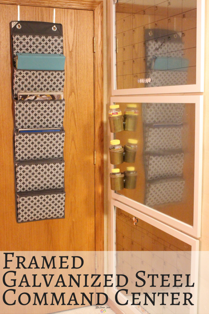 Organize Your Life with a Framed Galvanized Steel Command Center