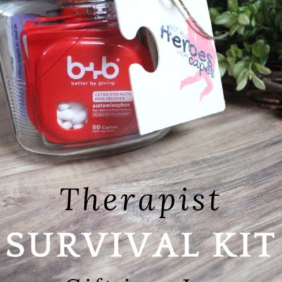 Therapist Survival Kit Gift in a Jar