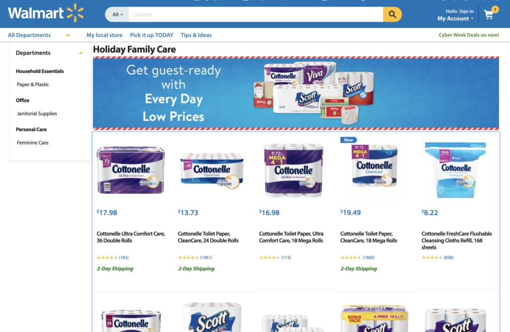 Save time this holiday season with Walmart! Two-day shipping and free store pickup are available. #GetGuestReady #ad
