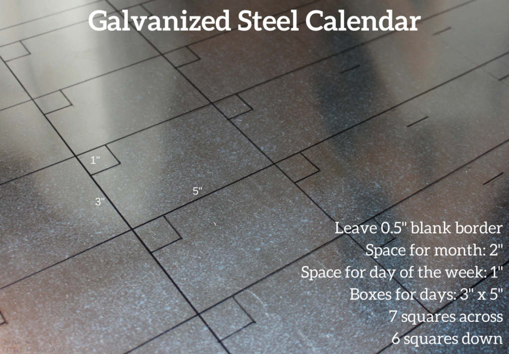 [ad] Create a calendar for your command center with galvanized steel sheet metal and a permanent marker! #AGummyYouCanTrust