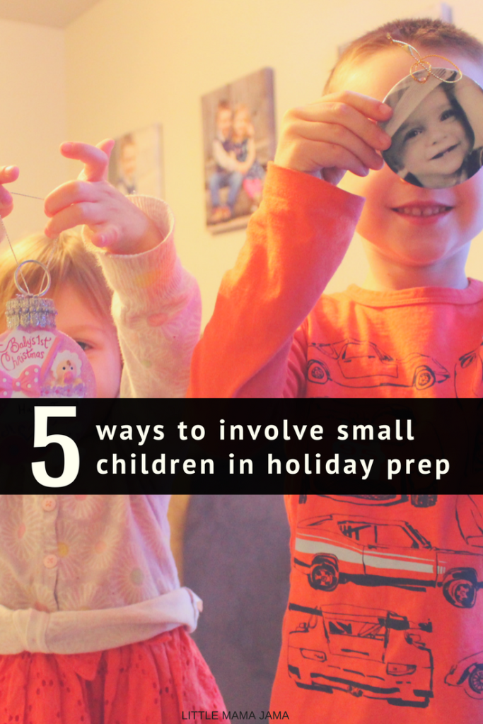 Kids love to be involved in the bustle of the holidays, even when they're little. Here are 5 ways to involve small children in holiday prep! #GetGuestReady #ad