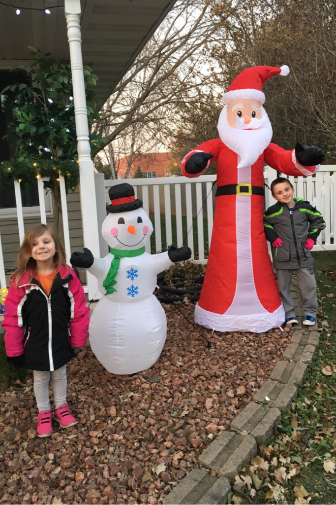 Allow the kids to help with the outdoor holiday decor! And 4 other ways to involve small children in holiday prep. #GetGuestReady #ad