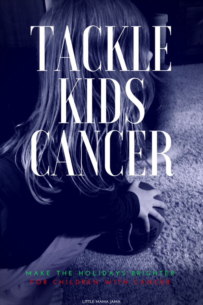 Help brighten the holiday season for children with cancer through Tackle Kids Cancer! Donations go towards pediatric cancer programs. #TackleKidsCancer #ad