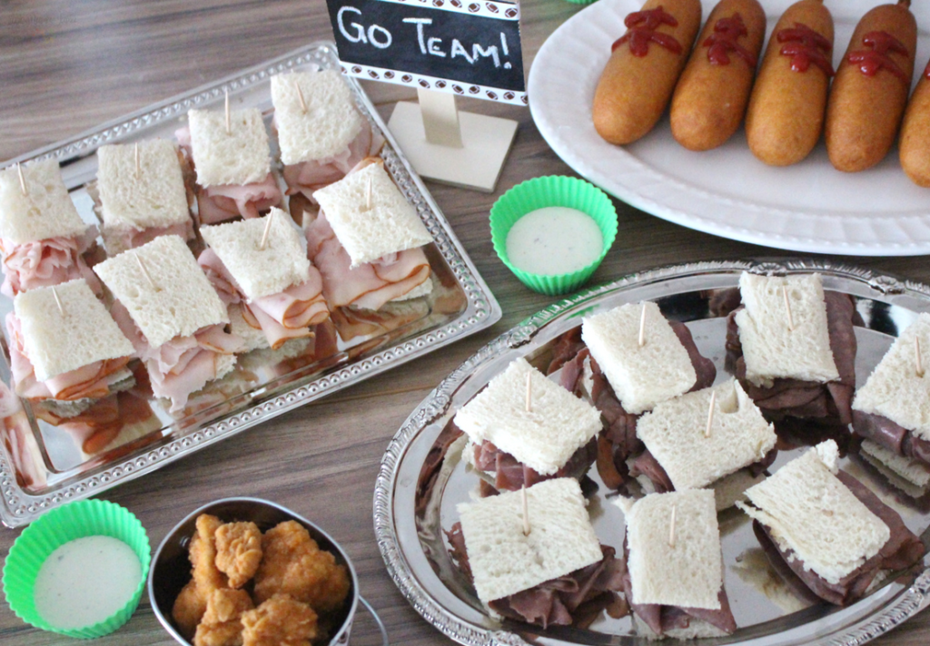 Get game day ready with Tyson from Walmart! Snack size sandwiches, popcorn chicken, ranch, and corn dogs make for delicious game day finger foods! #TysonWinningLineup #ad