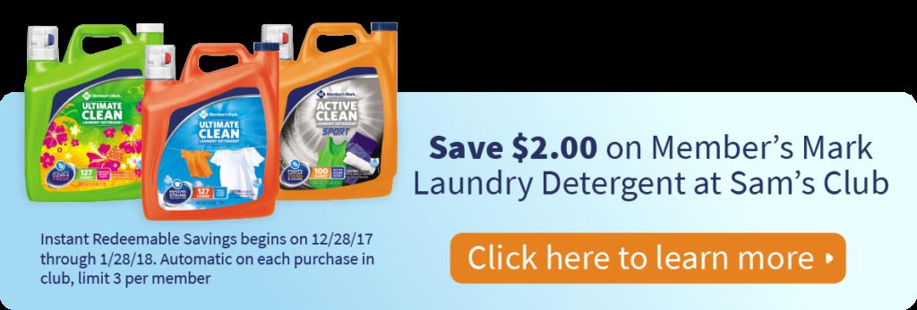 Member's Mark Laundry Detergent Savings at Sam's Club