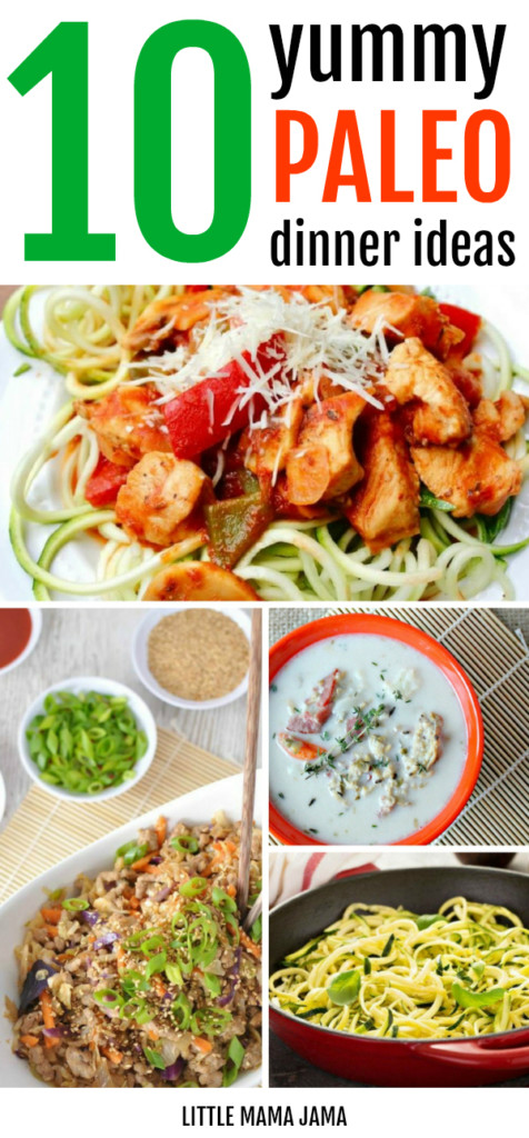 On a Paleo meal plan? Here are 10 Yummy Paleo Dinner Ideas. Meal prep and a menu plan is essential for success on a paleo diet!